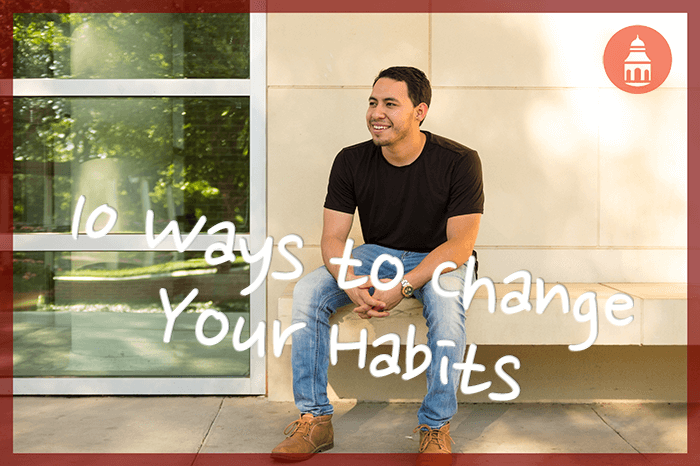 10 ways to change your habits with man looking out happily