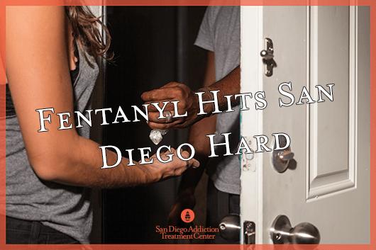 drug deal of fentanyl in doorway in san diego