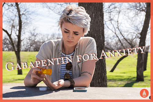 woman pouring gabapentin into hand for anxiety management