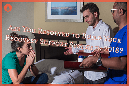 group of people supporting each other in recovery