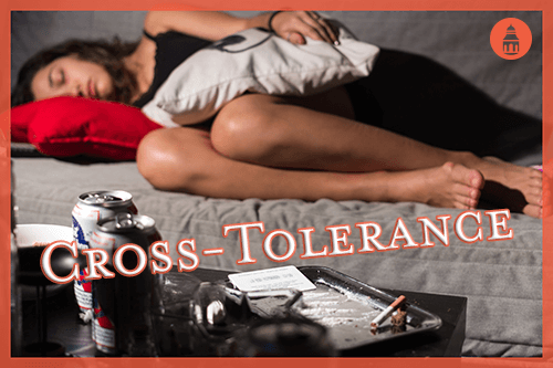 woman that has developed cross-tolerance