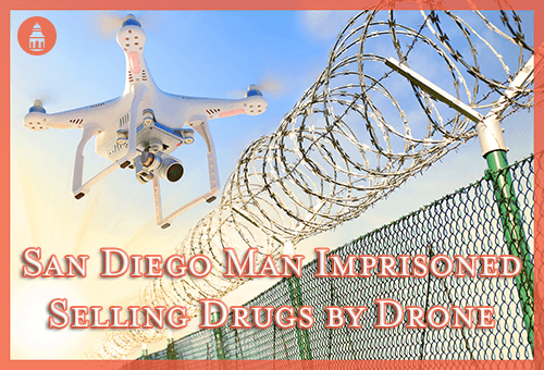 drone flying over the Mexican border to transport drugs
