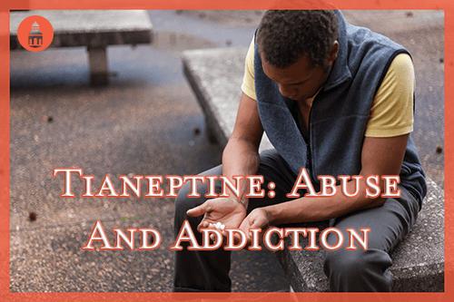 man holding tianeptine pills in hands